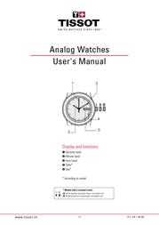 Tissot Analog Watch User Manual