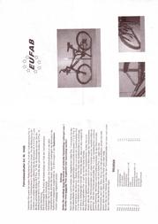 Eufab Bicycle Wall Mount 16408 Leaflet