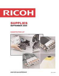 Ricoh Black Toner Cartridge 400507 User Manual