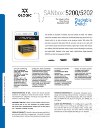 QLogic SANbox 5200 8 Ports 2Gbps The Industry's First  Fibre Channel  Stackable Switch SB5200-08A-E Leaflet