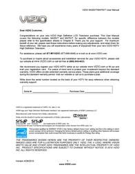 VIZIO M420VT User Manual