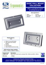 Comrac Basic Flush Fit Wall Mount COMLA10E Leaflet
