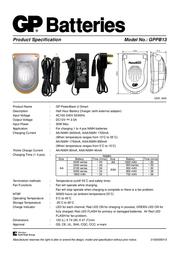 GP Batteries GP PowerBank U-Smart 13013GS210C4 Leaflet