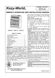 World Marketing of America KOZY-WORLD KWN109 User Manual