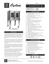 CyClone CO11-G1 Leaflet