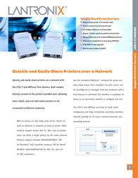 Lantronix LPS1-T Printer Server LPS1-T-02 Leaflet