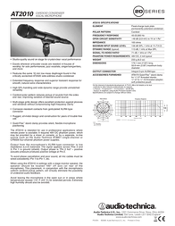 Audio-Technica AT2010 Leaflet