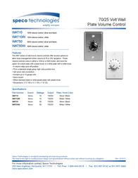 Speco WAT10 Leaflet