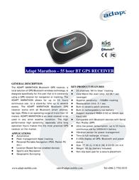 Adapt Marathon 55 hours GPS receiver 8717568398570 Leaflet