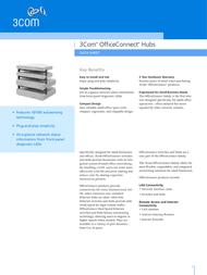3com OfficeConnect® Dual Speed Hub 8 3C16753-ME User Manual