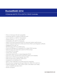 Highpoint RocketRAID 2314 RR2314 Leaflet