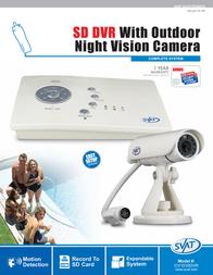 Svat SD DVR with Camera CV1010DVR Leaflet