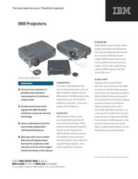 Lenovo IBM E400 Projector - Europe TopSeller 40Y6653 User Manual