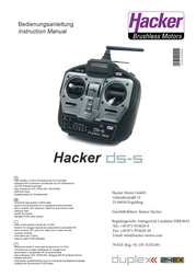 Hacker Hendheld RC 2.4 GHz No. of channels: 5 10001010 User Manual