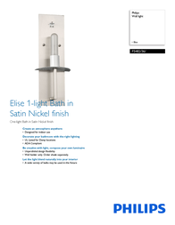 Philips Forecast F5482/36/ F548236 Leaflet