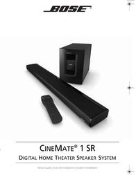 Bose CineMate 1 SR Installation Guide