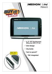 Medion GoPal PNA465 MD96187 Leaflet