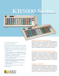 Logic Controls KB5000 Reference Guide