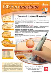 I.R.I.S. IRISPen Translator executive, ML HIPEXTR3TPAEU500 Leaflet