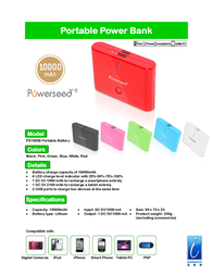 Powerseed PS-10000 PS-10000WHITE Leaflet