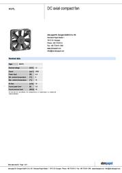 Papst 612 FL 13000100023 Data Sheet