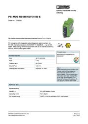 Phoenix Fiberconverter 2708339 User Manual