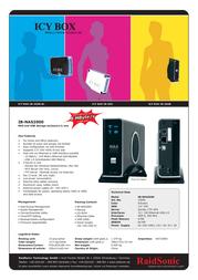 Nanopoint NAS & external aluminium case IB-NAS2000 Leaflet