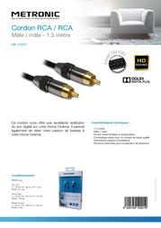 Metronic 419201 Leaflet