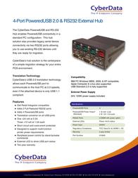 CyberData Systems 010845 Leaflet