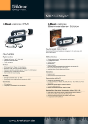 Trekstor 256MB i.Beat cebrax FM 71906 Leaflet