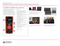 Keysight Technologies U1451A Insulation measuring device, U1451A Data Sheet