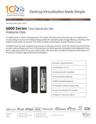 10ZiG Technology 6818v 6818-4637 Prospecto