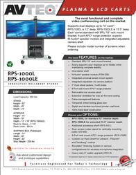 Avteq RPS-1000L-E Leaflet