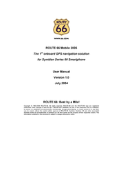 Route 66 mobile 2005 User Manual