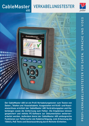 Psiber Data PD_CM600 Cable tester, cable tester 226515 Data Sheet