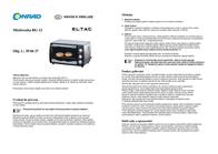 Eltac Mini overn with skewer, Timer fuction Mini-Backofen RG 12 Edelstahl 15 l RG 12 Data Sheet
