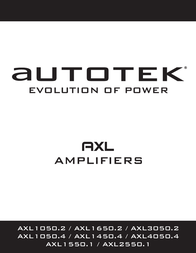 Autotek AXL1050.2 User Manual