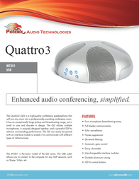 Phoenix Audio Quattro3 MT301 Leaflet