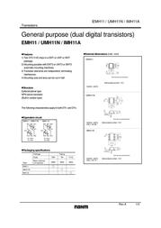 Rohm Semiconductor IMH11AT110 Bipolar Transistor Emitter reverse voltage U(CEO) 40 V IMH11AT110 Data Sheet
