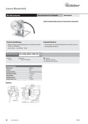Kuebler Kübler 05.2400.0040.1000.5045 Mini-Measure wheel system 05.2400.0040.1000.5045 Data Sheet