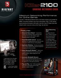 Bigfoot Networks Killer 2100 75322 Leaflet