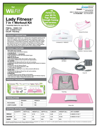 dreamGEAR 7-In-1 Lady Fitness Workout Kit for Wii Fit DGWII-1153 Leaflet