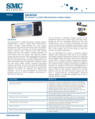 SMC 802.11g 2.4GHz 54Mbps Wireless Cardbus Adapter SMC2835WEU Leaflet