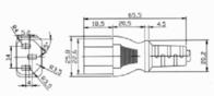 Hawa C13/C14 appliances Cable [ Swiss plug - IEC plug C14 10A] Black 2 m 1008243 1008243 Data Sheet