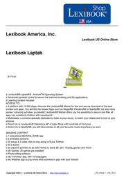Lexibook Laptab MFC140IT Leaflet