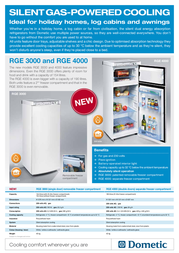Dometic RGE 2100 Leaflet