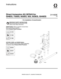 Graco 311493E - GH833 Direct Immersion Kit 287843 User Manual