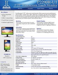 TouchSystems P2290R-U1 Leaflet