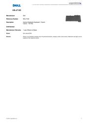 Origin Storage Internal Notebook Keyboard - French KB-J713D Leaflet