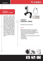 Labtec Webcam 3300 960-000156 Leaflet